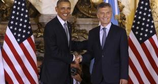 zzzznacp2 NOTICIAS ARGENTINAS BAIRES, MARZO 23: El presidente Mauricio Macri recibe a su colega norteamericano Barack Obama en el salon Blanco de casa de gobierno. Foto NA: DAMIAN DOPACIO zzzz