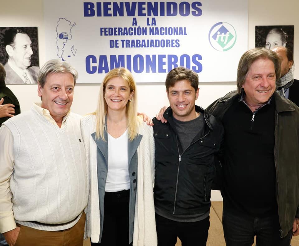 Amichetti, Kicillof, Magario y Furlán