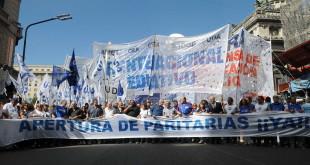 Marcha nacional de docentes reclamando la apertura de paritarias. (6.3.2017) NÉSTOR GARCÍA