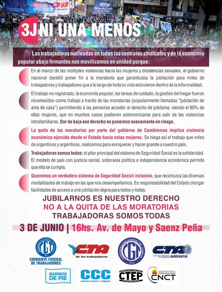 Mujeres Sindicalistas 3 de Junio