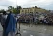 Misa organizada por el gremio de Camioneros con Hugo y Facundo Moyano, en Luján por paz, pan y trabajo. Fotos Emmanuel Fernández
